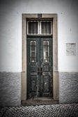 The front door to the house. Portugal. tinted — Stock Photo