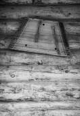 Ancient musical instrument gusli on the wooden floor. Toned — Stock Photo