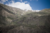 Mountains and clouds. Spring. Tajikistan. Toned — Стоковое фото