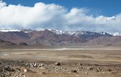 Valley in the foothills of the Fann mountains. Landscape — Foto Stock