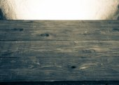 Old tabletop and background from a sacking. horizontal picture — Stock Photo