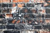 Wall of dirty red bricks. Background — Foto Stock