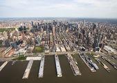 New York. Manhattan'ın helikopter görünümü — Stok fotoğraf