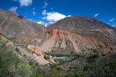 Hilly landscape in the Fan Mountains. Pamir. Tajikistan — Stock Photo