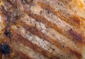 Close-up pork steak. Meat background — Stock Photo