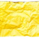 Crumpled yellow paper — Stock Photo #58578175