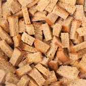 Macro of crouton as background — Stock Photo
