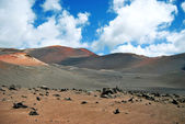 Timanfaya national park volcanoes — Stock Photo