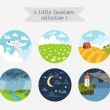 Little locations collection 1 — Stock Vector #54121939