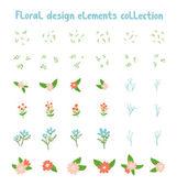Decorative floral design elements collection — Stock vektor