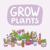 Grow plants — Stock Vector