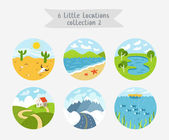 Little locations collection 2 — Stock Vector