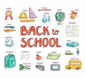 Back to school collection — Stock Vector