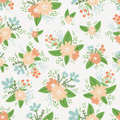 Vintage floral compositions seamless pattern — Stockvektor