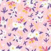 Gorgeous vintage floral seamless pattern — Stock Vector