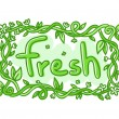 Fresh doodle decorative label — Stock Vector #54947981