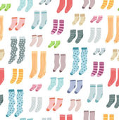 Colorful socks seamless pattern — Stock Vector