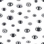 Eyes seamless pattern — Stock Vector