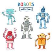 Robots collection — Stock Vector