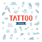 Tattoo doodles collection — Stock Vector