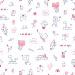 Love is everywhere valentine pattern — Stok Vektör #73124947