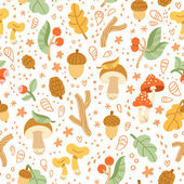 Colorful autumn treasures pattern — Stock Vector