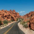 Road in the Valley of Fire State Park — Stock Photo #53636355