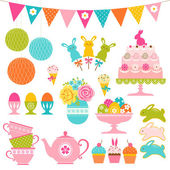 Easter party set — Stock Vector