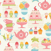 Easter party pattern — Vetorial Stock