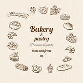 Bakery sketch — Vecteur