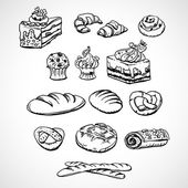 Bread and pastry — Stock Vector