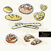 Sketch of bakery — Stock Vector