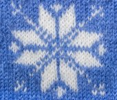 Jacquard pattern with snowflake — Stock Photo