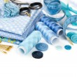 Materials and accessories for sewing — Stock Photo #75320215