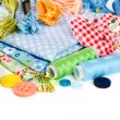 Materials and accessories for sewing — Stock Photo #75320217