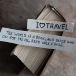 Text I Love Travel  — Stock Photo #64241085