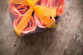 Rose in Heart Shape Box — Stock Photo