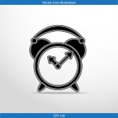 Vector alarm clock web icon — Stock Vector