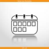 Vector calendar organizer web flat icon — Stock Vector