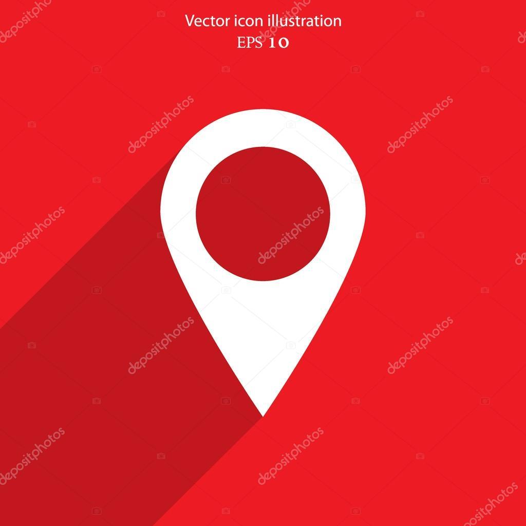 矢量地图指针 web 平面图标