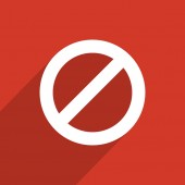 Not allowed sign web icon — Stock Photo
