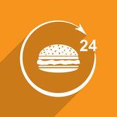 Twenty four hour delivery food — Stock Photo