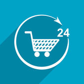 Shop icon. twenty four hours — Stock Photo