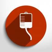 Vector medical dropper flat icon. — Stock Vector