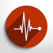 Vector pulse icon. Heart beat, cardiogram. — Stock Vector