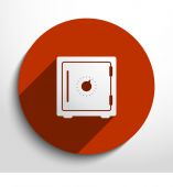 Vector bank safe web icon. — Vettoriale Stock