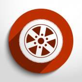 Vector tyre web icon. — Stock Vector