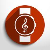 Vector music watch web icon. — Stock Vector