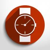 Vector watch, clock web icon. — Stock Vector