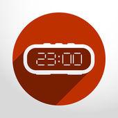 Vector electronic clock web icon. — Stock Vector